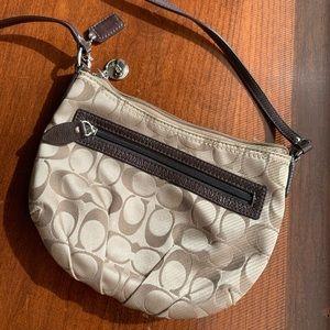 COACH Gold Crossbody Small Bag/Purse